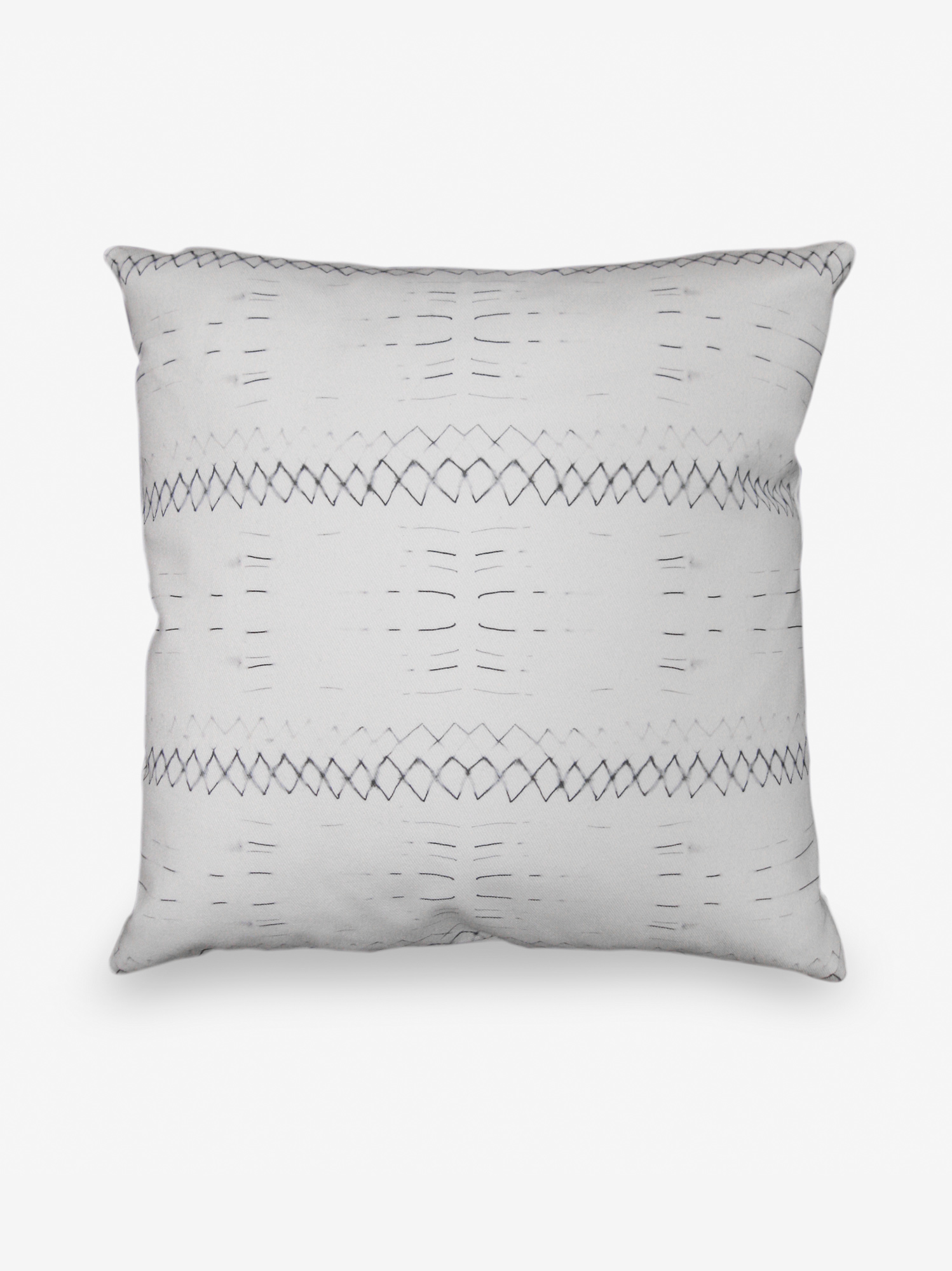 Native Stripe Black White Pillow Eskayel